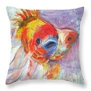Fancy Fish Throw Pillow