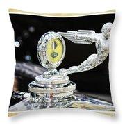 Fancy Framed Hood Ornament Throw Pillow