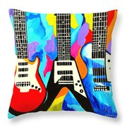 Fancy Guitars Throw Pillow