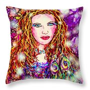 Fancy Lady Throw Pillow