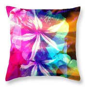 Fancy Pansy Candy Throw Pillow