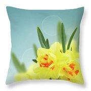 Fancy Spring Narcissus Garden  Throw Pillow