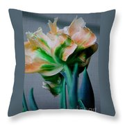 Fancy Tulip Throw Pillow