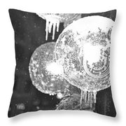 Faneuil Hall Lollypop Light Icicles Boston Ma Black And White Throw Pillow