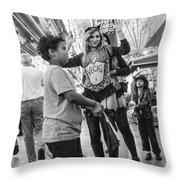 Fanning The Sex Kittens Throw Pillow