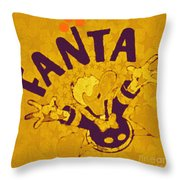 Fanta Old School Pop Art Pur Throw Pillow