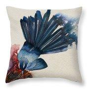Fantail Flycatcher Throw Pillow