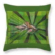 Fantail Palm Plateau Throw Pillow