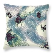 Fantails Throw Pillow