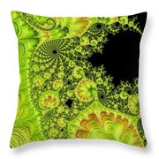 Fantastic Abstract On Black Throw Pillow