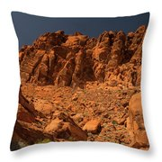 Fantastic Landscape Valley Of Fire Throw Pillow