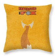 Fantastic Mr. Fox Throw Pillow