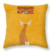 Fantastic Mr. Fox Throw Pillow