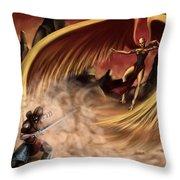 Fantasy Battle Throw Pillow