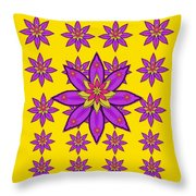 Fantasy Big Flowers In The Happy Jungle Of Love Throw Pillow