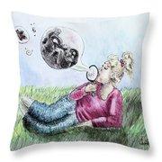 Fantasy Bubbles Throw Pillow