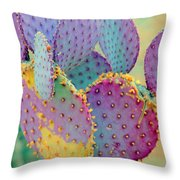 Fantasy Cactus Throw Pillow