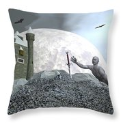 Fantasy Castle - 3d Render Throw Pillow