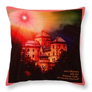 Fantasy Castle For Mandy Maxwell H A Throw Pillow