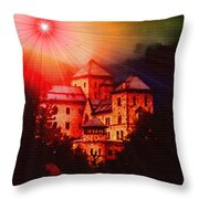 Fantasy Castle For Mandy Maxwell H B Throw Pillow