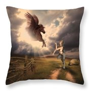 Fantasy Creatures 1 Throw Pillow