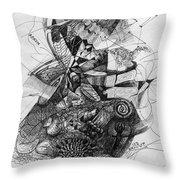 Fantasy Drawing 2 Throw Pillow