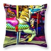 Fantasy Fair Horse Ride Throw Pillow