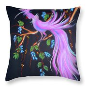Fantasy Feather Bird Throw Pillow