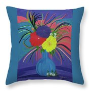 Pink And Purple Passion Throw Pillow