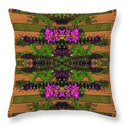 Fantasy Garden Eight Throw Pillow