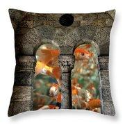 Fantasy Goldfish Aquarium Throw Pillow