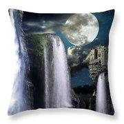Fantasy Gorge Color Throw Pillow