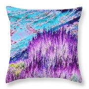 Fantasy Hills Throw Pillow