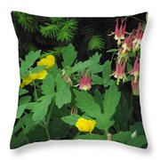Fantasy In Bloom Throw Pillow