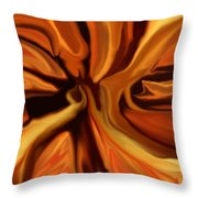 Fantasy In Orange Throw Pillow