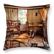 Fantasy - In The Witches Workshop Throw Pillow by Mike Savad