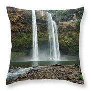 Fantasy Island Falls Throw Pillow