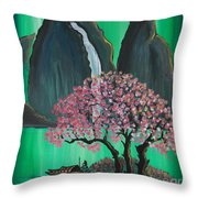 Fantasy Japan Throw Pillow