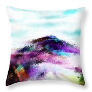 Fantasy Mountain Throw Pillow