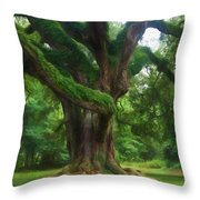 Fantasy Oak Throw Pillow