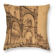 Fantasy On A Magnificent Triumphal Artch Throw Pillow