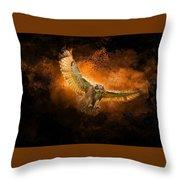 Fantasy Owl Throw Pillow