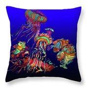Fantasy Sea Life1 Throw Pillow