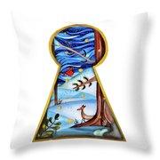 Fantasy Through The Keylock Throw Pillow
