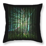 Fantasy Tree On Bamboo Throw Pillow