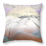 Fantasy Winter Landscape - 3d Render Throw Pillow