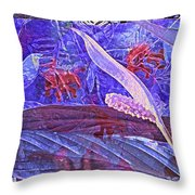 Fantasy With African Violets And Peace Lily 46 Throw Pillow