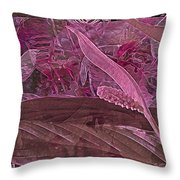 Fantasy With African Violets And Peace Lily 7 Throw Pillow