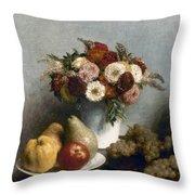 Fantin-latour: Fruits, 1865 Throw Pillow