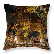 Fanueil Hall Boston Ma Autumn Foliage Throw Pillow